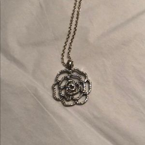 Pandora Shimmering Rose Sterling silver necklace